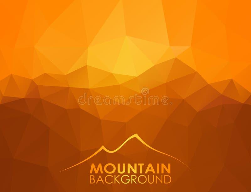 Предпосылка треугольника геометрическая с горами бесплатная иллюстрация