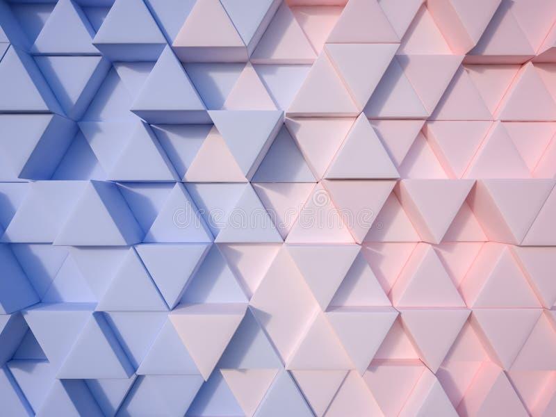 Предпосылка треугольника конспекта 3d голубого и розового кварца спокойствия бесплатная иллюстрация