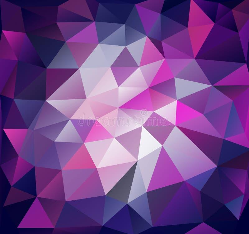 Предпосылка треугольника Полигоны сирени бесплатная иллюстрация