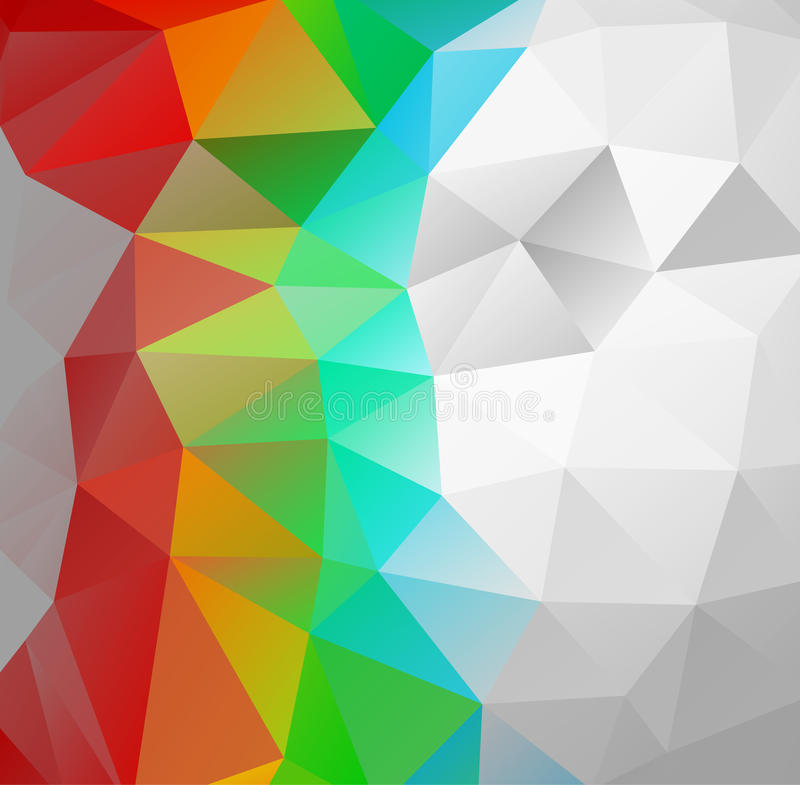 Предпосылка треугольника Multicolor полигоны иллюстрация вектора