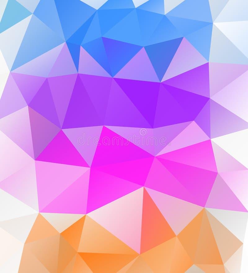 Предпосылка треугольника Multicolor полигоны иллюстрация штока