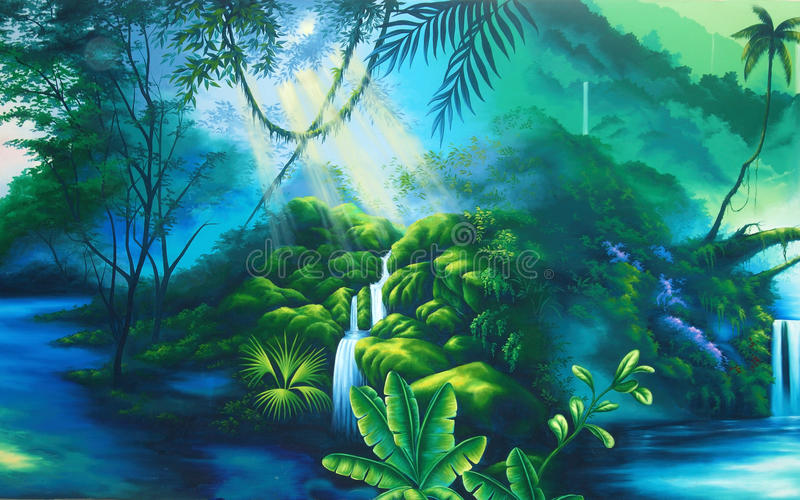 Предпосылка тропического леса иллюстрация вектора