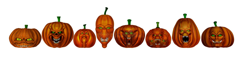 Предпосылка тыкв хеллоуина - 3D представляют иллюстрация вектора