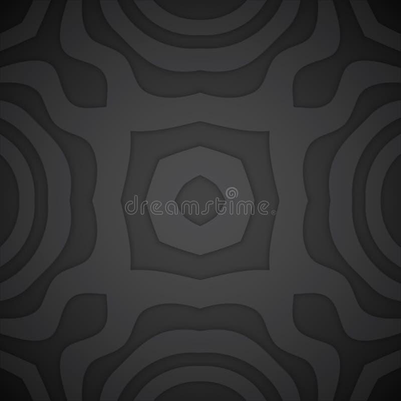 Предпосылка украшения вектора monochrome объемная бесплатная иллюстрация