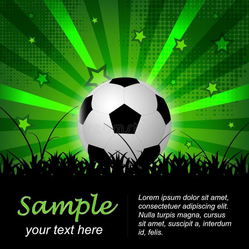 Предпосылка футбола или футбола с шариком и звездами бесплатная иллюстрация