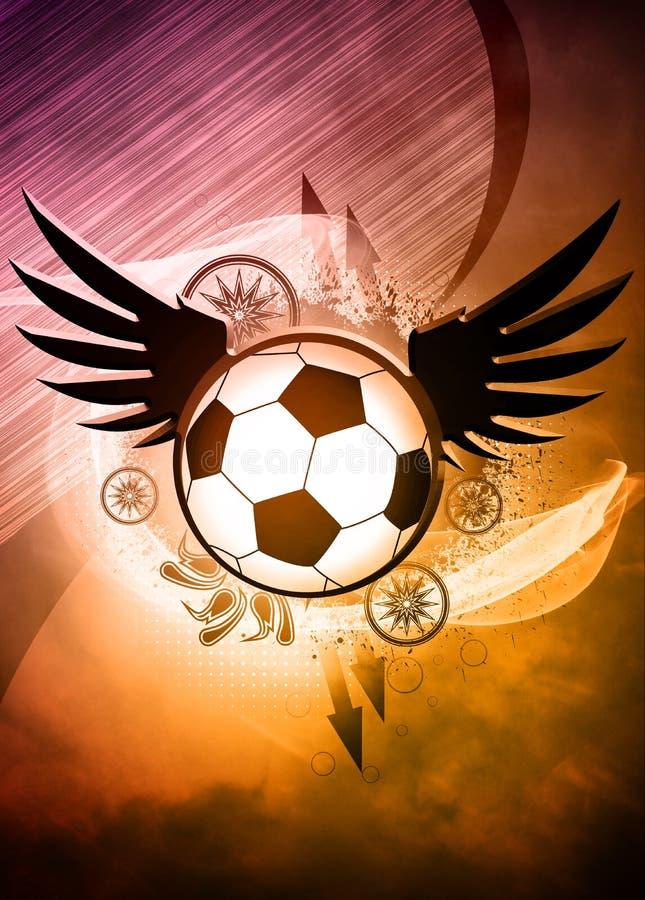 Предпосылка футбола или футбола иллюстрация вектора