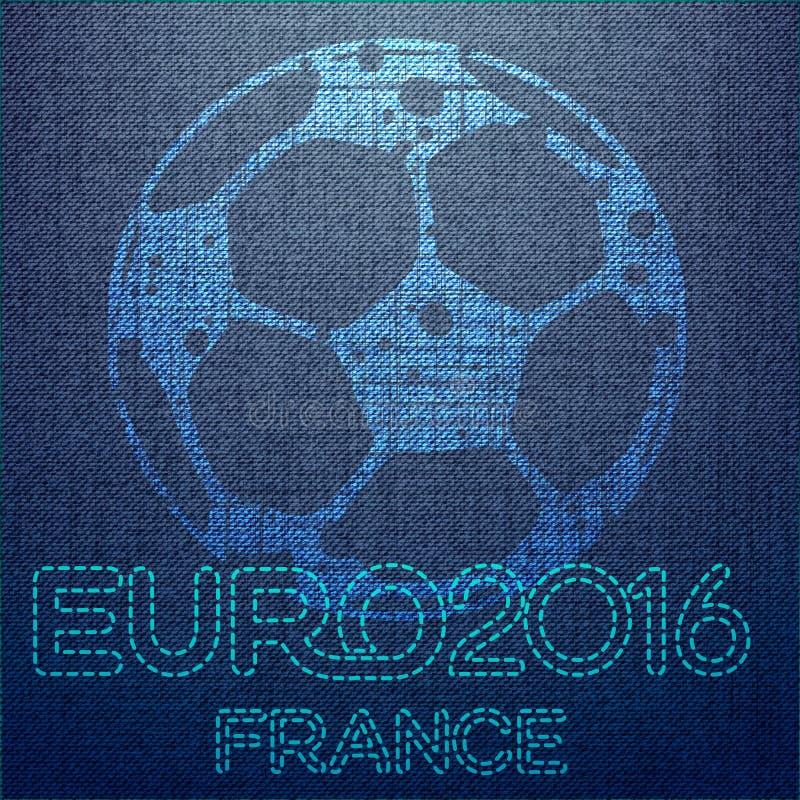 Предпосылка футбола с шариком Первоначально иллюстрация резвится серия Классический плакат футбола Чемпионат евро иллюстрация штока