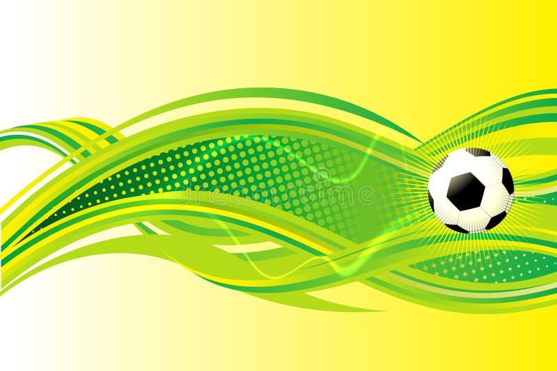 Предпосылка футбола иллюстрация штока