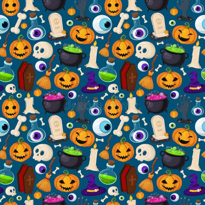 Предпосылка хеллоуина безшовная смешная иллюстрация штока