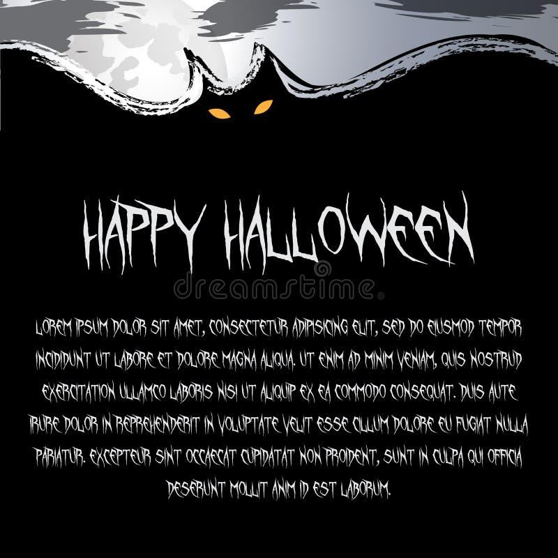 Предпосылка хеллоуина - страшная летучая мышь летания на ноче в темноте бесплатная иллюстрация