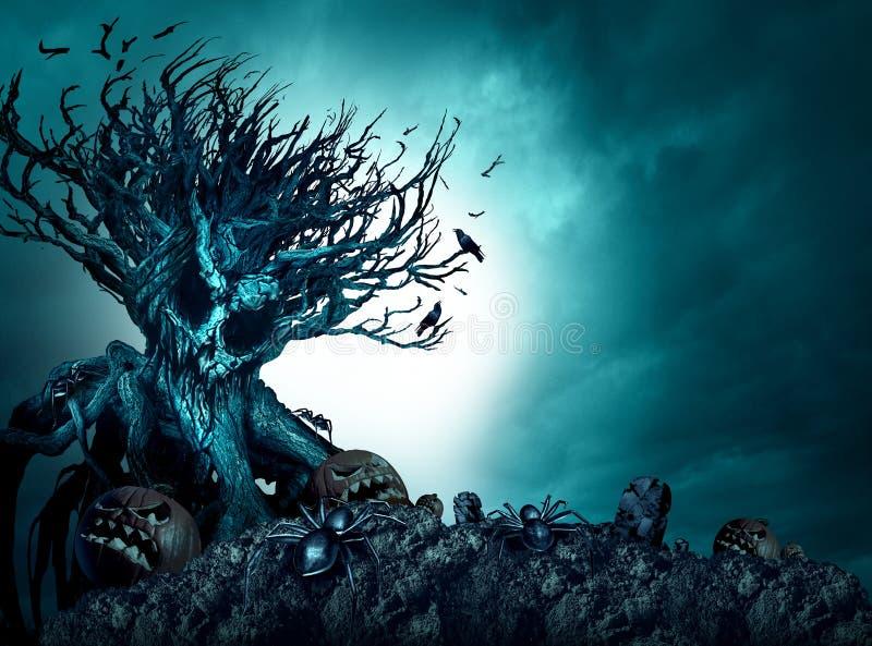 Предпосылка хеллоуина страшная иллюстрация штока