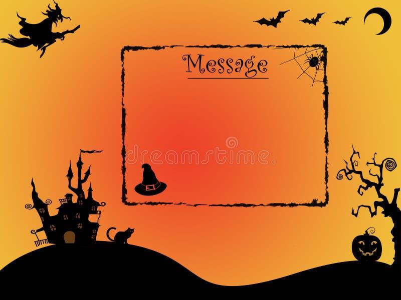 Предпосылка хеллоуина с космосом для сообщения иллюстрация штока