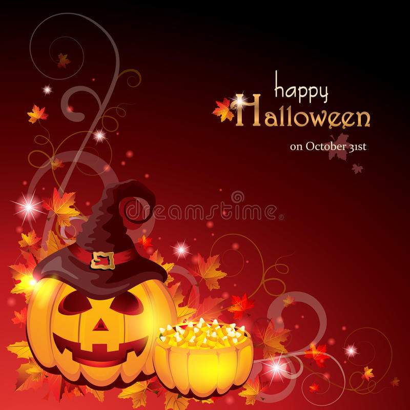 Предпосылка хеллоуина иллюстрация вектора
