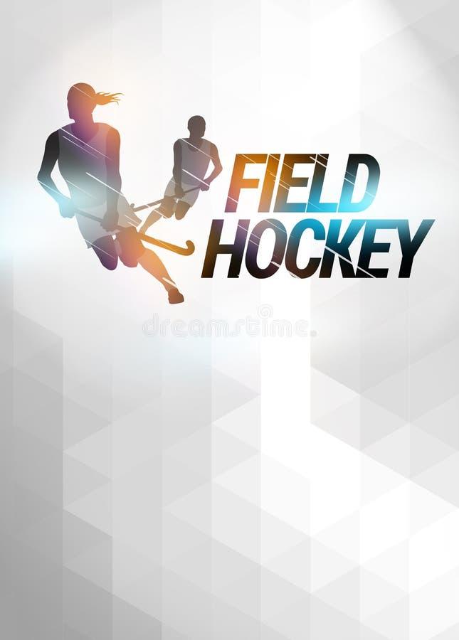 Предпосылка хоккея на траве иллюстрация вектора