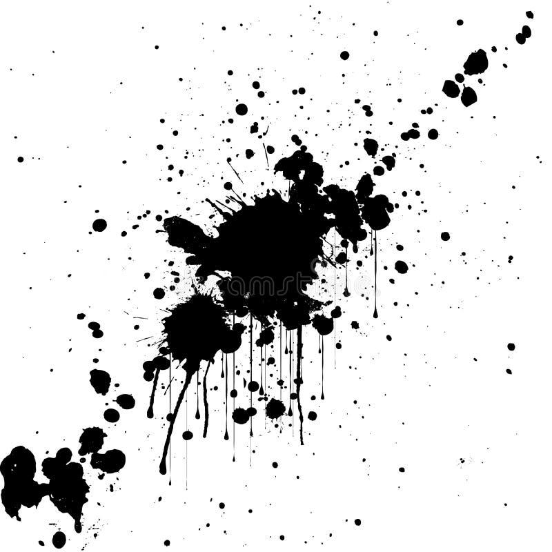 Предпосылка цвета черноты splatter вектора абстрактная мозаика иллюстрации конструкции предпосылки иллюстрация штока