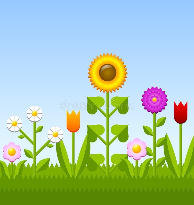 Предпосылка цветка Garden иллюстрация штока