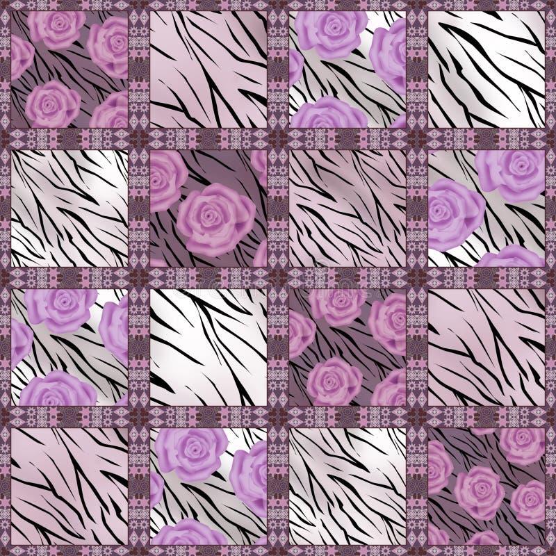 Download Предпосылка цветочного узора заплатки безшовная Иллюстрация штока - иллюстрации насчитывающей цветасто, декор: 40582184