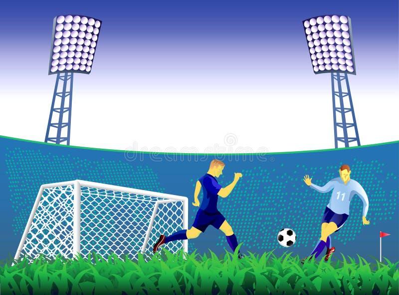 Предпосылка цели футбола. иллюстрация штока