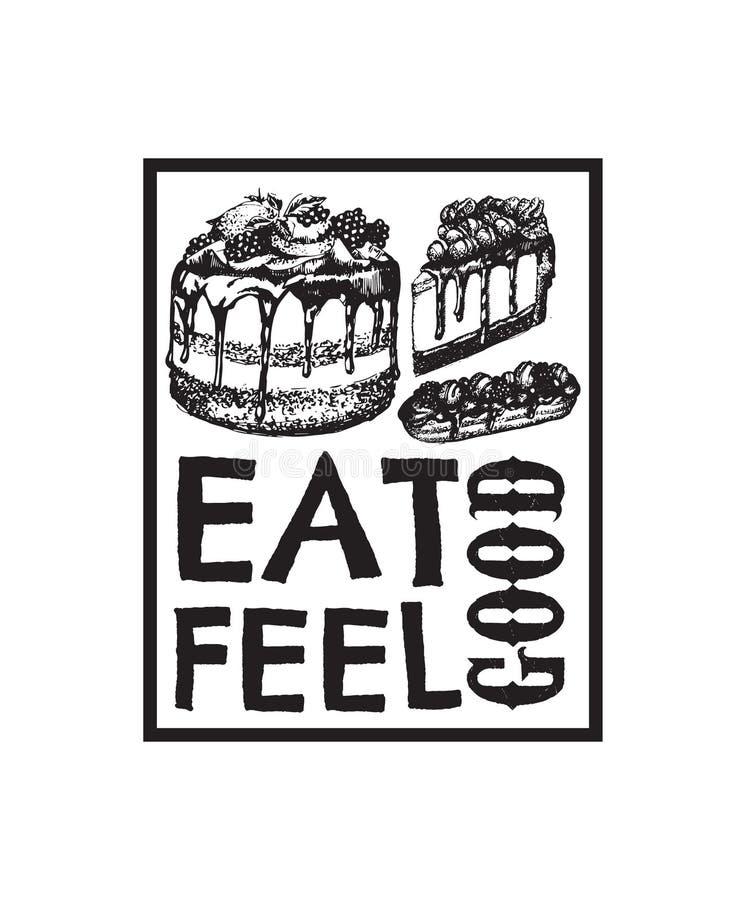 Предпосылка цитаты вектора типографская о еде бесплатная иллюстрация