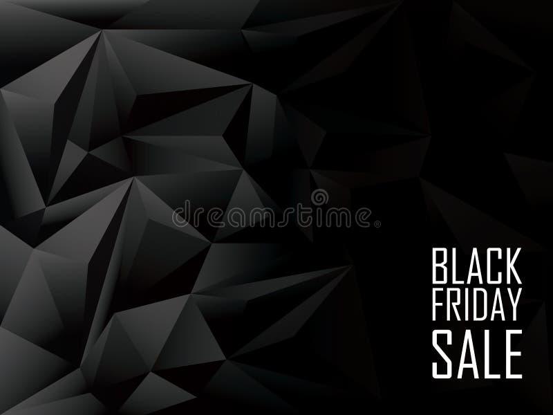 Предпосылка черной продажи пятницы полигональная Шоппинг иллюстрация вектора