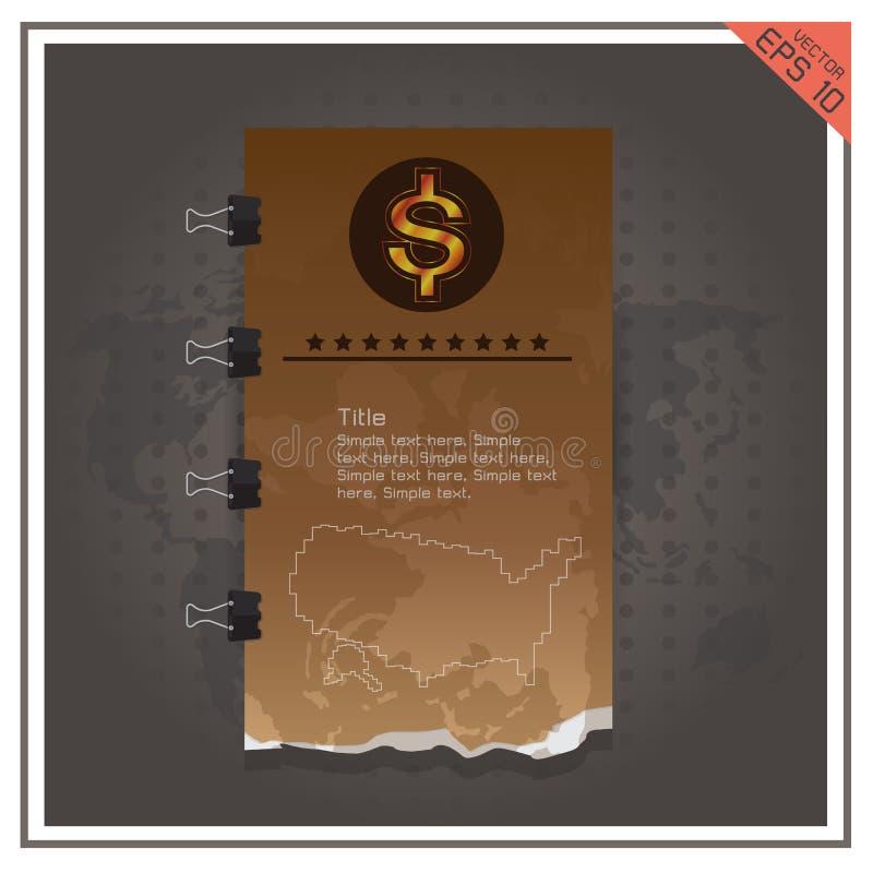 Предпосылка черноты вектора золота бумажных денег дела доллара бесплатная иллюстрация