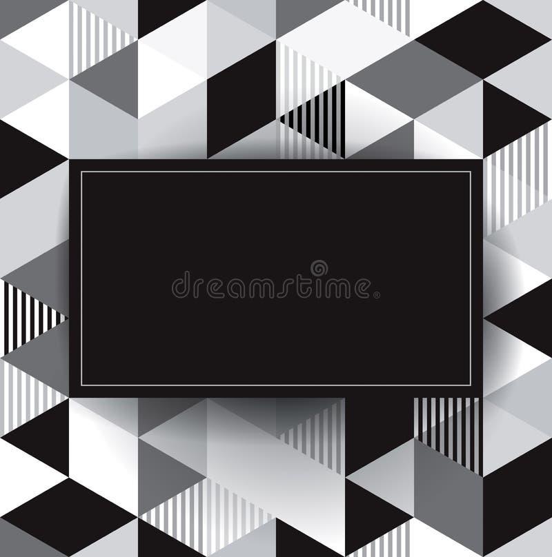 Предпосылка черно-белого вектора геометрическая. иллюстрация штока