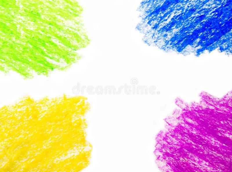 Предпосылка чертежа руки crayon воска иллюстрация вектора