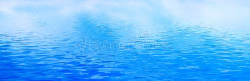 Предпосылка чистой воды, волны затишья Знамя, панорама стоковые фотографии rf
