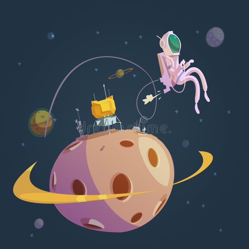 Предпосылка шаржа космического пространства иллюстрация штока
