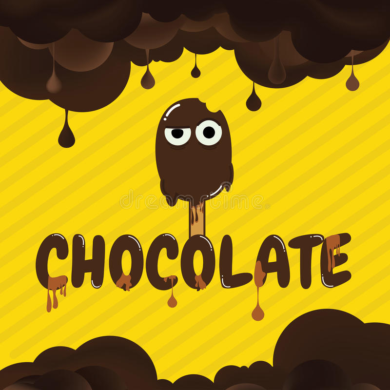 Предпосылка шаржа шоколада стоковое изображение rf