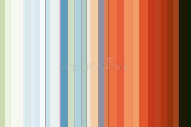 Предпосылка шаловливых бежевых оранжевых зеленых линий абстрактная иллюстрация вектора