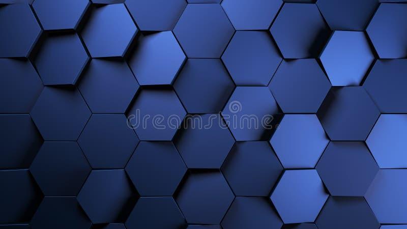 предпосылка шестиугольников медного штейна футуристическая иллюстрация штока