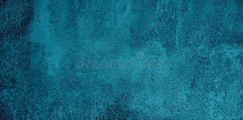 Предпосылка широкого экрана Grunge декоративная голубая стоковое фото
