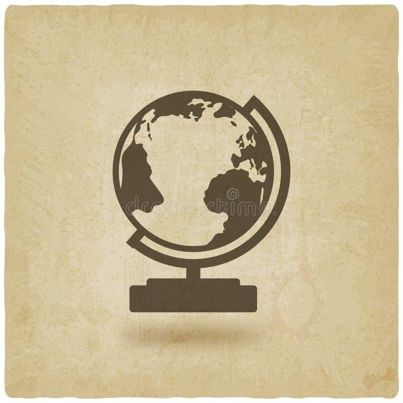 Предпосылка элемента дизайна глобуса старая бесплатная иллюстрация
