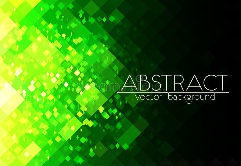 Предпосылка яркого ого-зелен конспекта решетки горизонтальная иллюстрация штока