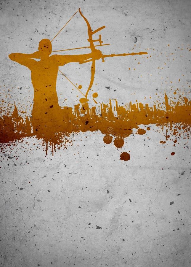 Предпосылка Archery стоковое изображение rf