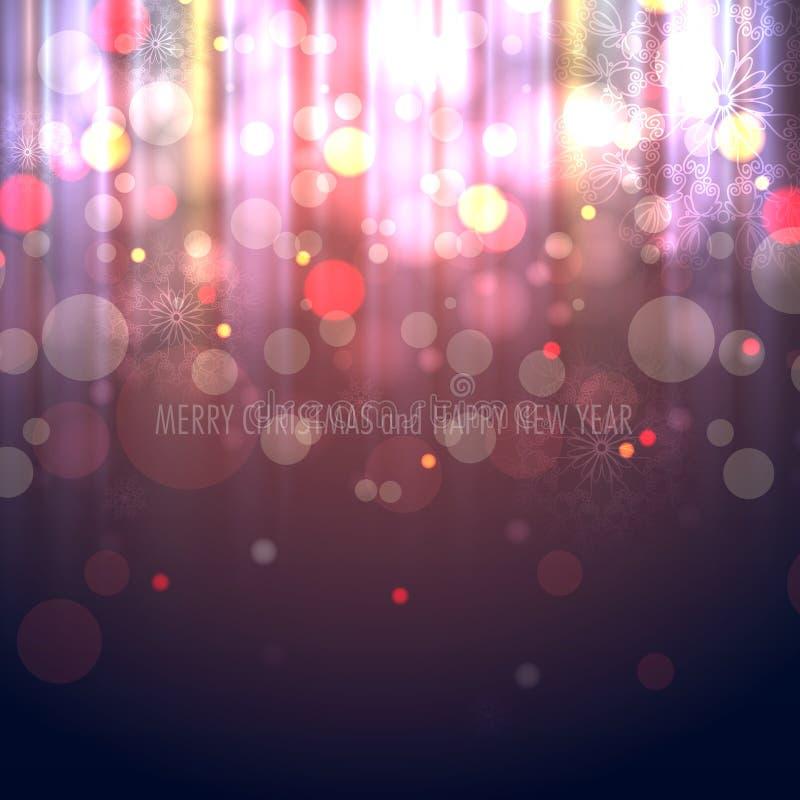 Предпосылка Bokeh зимы запачканная рождеством иллюстрация штока