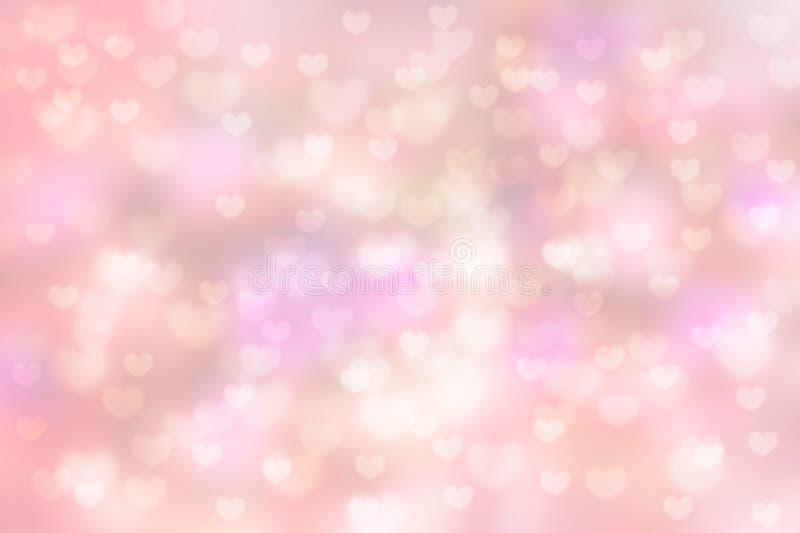 Предпосылка bokeh формы сердца влюбленности красивая стоковые фотографии rf