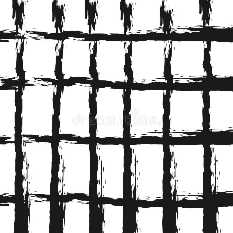 предпосылка checkered Грубые мазки щетки grunge иллюстрация вектора