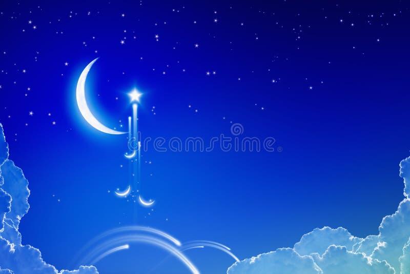Предпосылка Eid Mubarak иллюстрация штока