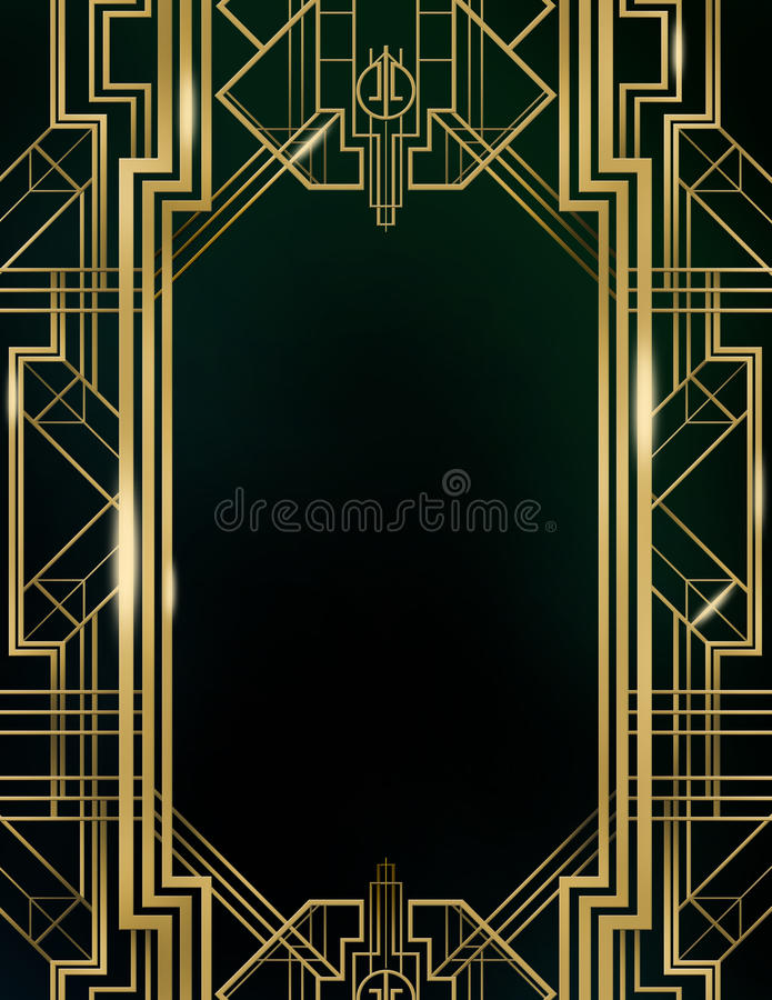 Предпосылка Gatsby стиля Арт Деко большая бесплатная иллюстрация
