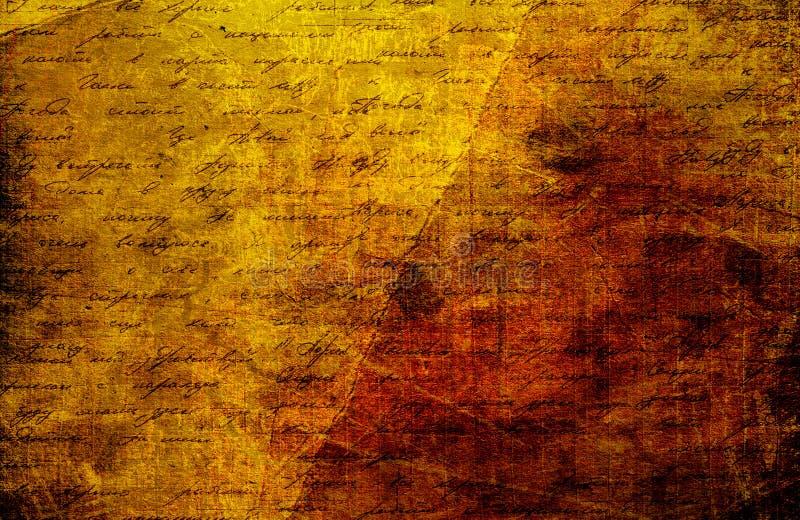 Предпосылка Grunge абстрактная с текстом handwrite стоковые изображения rf