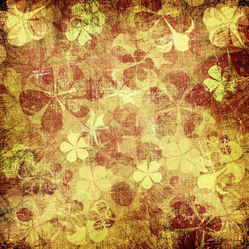 Предпосылка grunge искусства винтажная флористическая бесплатная иллюстрация