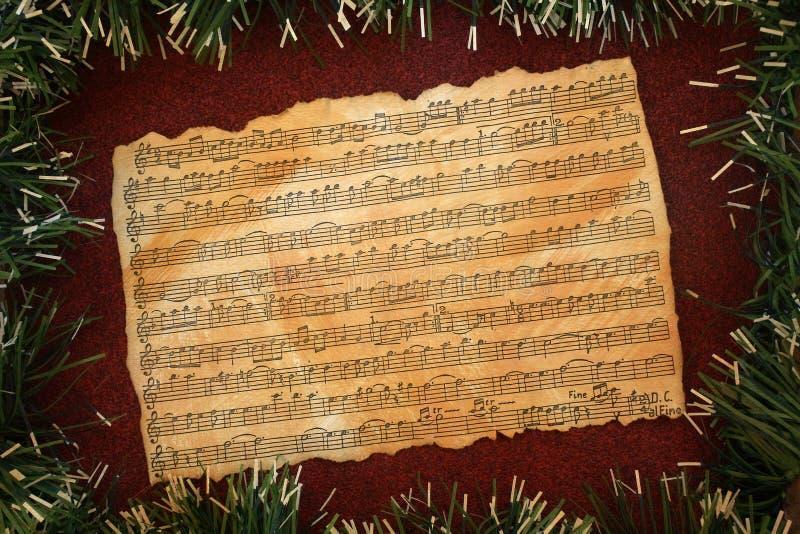 Предпосылка grunge музыки рождества стоковое изображение