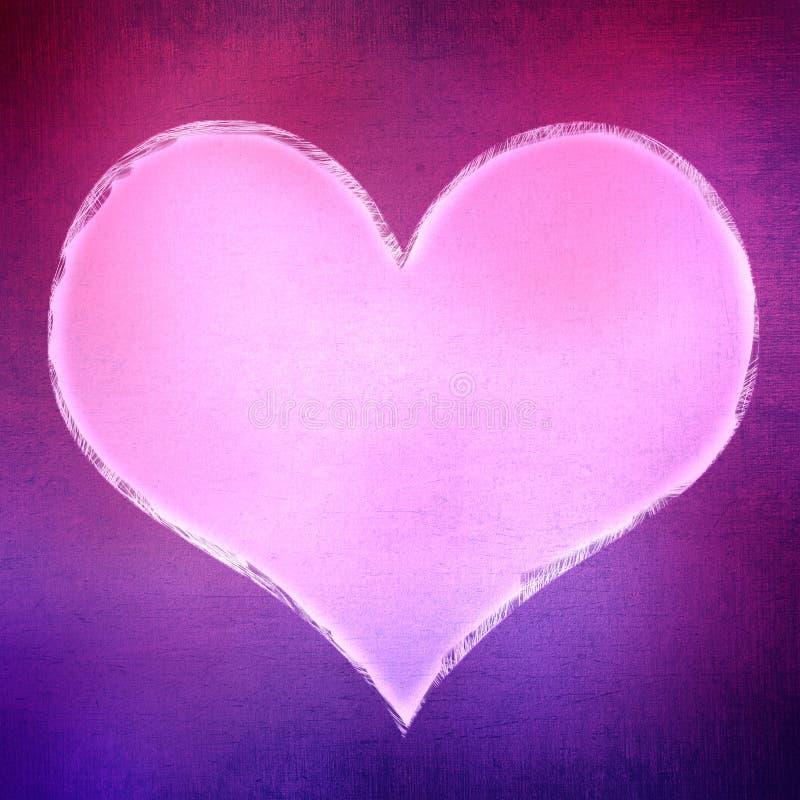 Предпосылка Grungy валентинки иллюстрация вектора