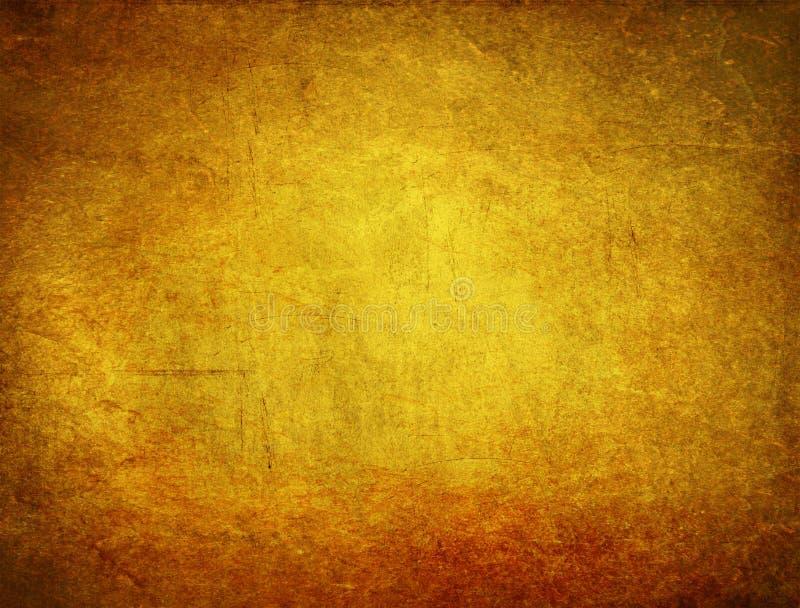 Предпосылка gunge золота стоковое изображение