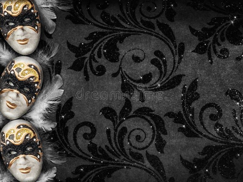 Предпосылка masquerade винтажного стиля темная стоковая фотография rf