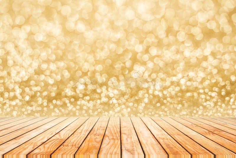 Предпосылка o конспекта bokeh нерезкости счастливого Нового Года золотая стоковое фото