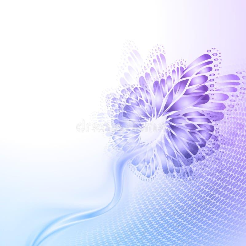 Предпосылка purplr абстрактной волны голубая с иллюстрация вектора