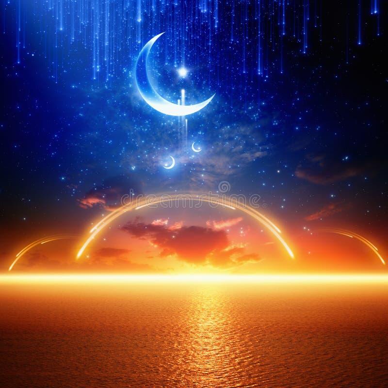 предпосылка ramadan иллюстрация вектора
